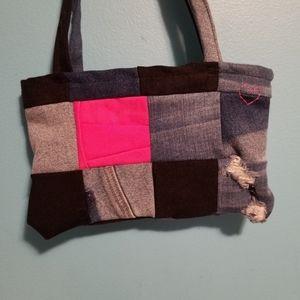 Handmade jean minibag